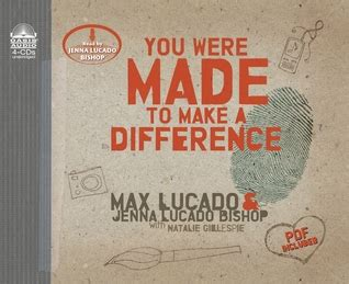 i want to make a difference books you were made to make a difference by max lucado reviews