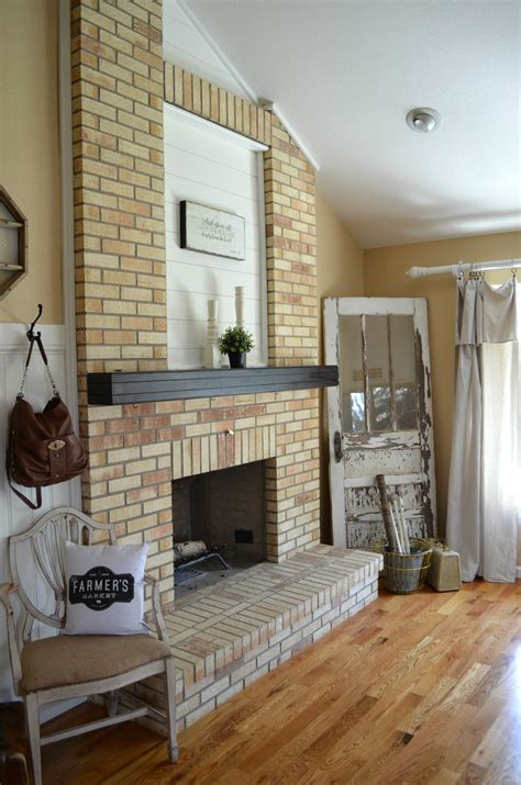 Cleaning Interior Brick by How To Paint A Brick Fireplace Vintage Nest