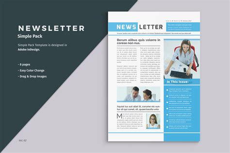 business newsletter template creative brochure templates