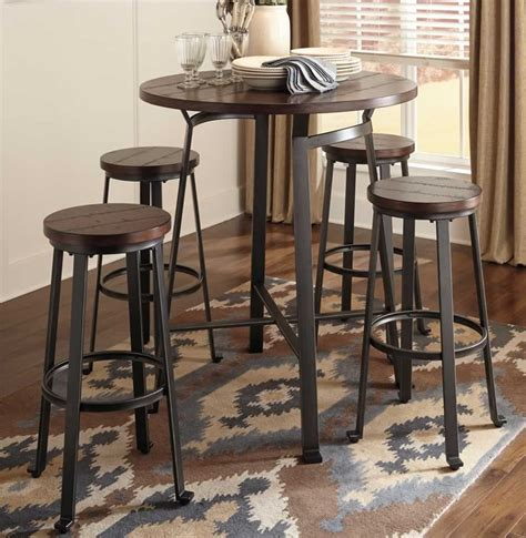Dining Table With Bar Stools by Metal Wood Pub Set Chicago Furniture Stores