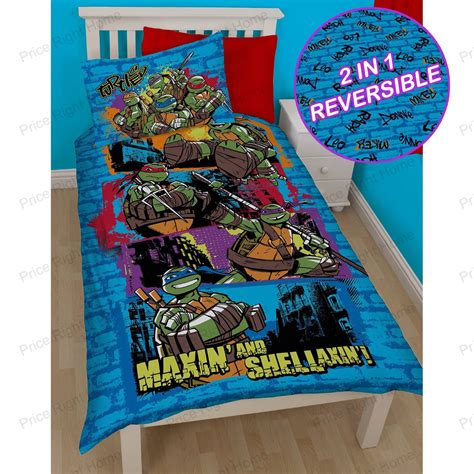 mutant turtles bed set mutant turtles bedding single duvet cover