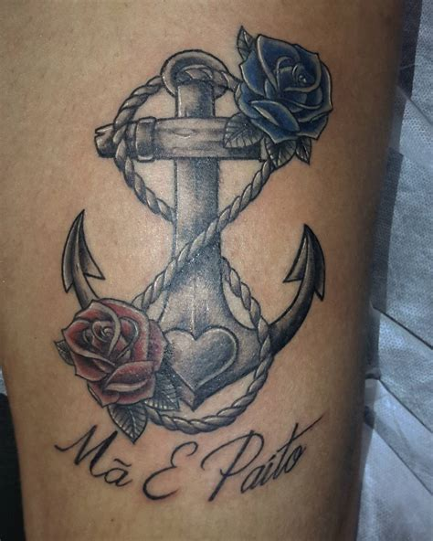 anchor tattoo with roses 50 best anchor tattoos collection