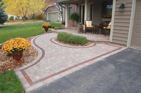 front yard pavers front brick paver patterns willow creek paver entry