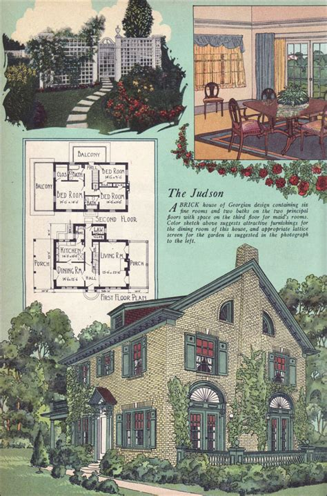 home plan magazines 1925 american builder magazine house plans colonial revival georgian william a radford