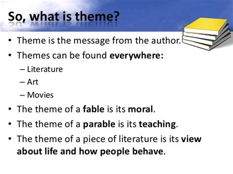good themes of a story finding themes in literature ppt
