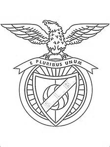 coloring page of s l benfica logo coloring pages