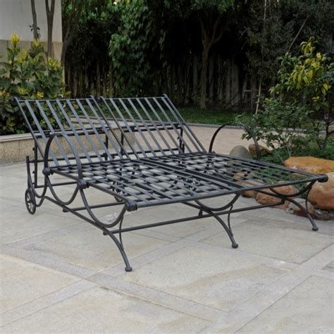 Black Wrought Iron Patio Chaise Lounge by Wrought Iron Chaise Lounge Chairs Chaise Design