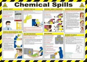 chemical spills health and safety poster safety services