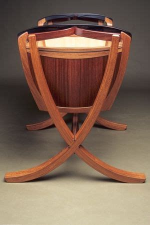 babes  ride handmade wooden cradle  jarrah narra bamboo  ebony functional art