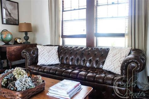 brown chesterfield sofa in living room 21 living room tufted leather sofa designs