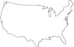 America Outline by United States Outline Map