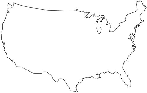 Usa Map States Outline by United States Map Outline