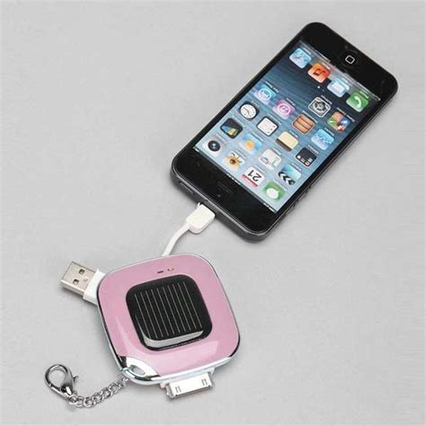 iphone keychain the solar power bank keychain for iphone gadgetsin
