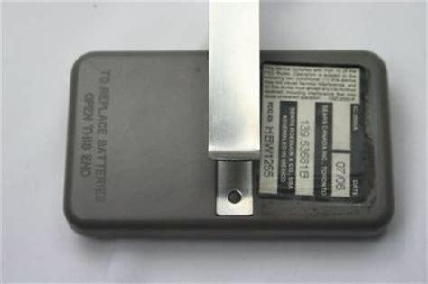 radio craftsman garage door opener remote