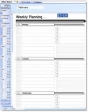 Onenote Weekly Planner Template Student Tablet Pc Onenote Planner Plugin D I Y Planner
