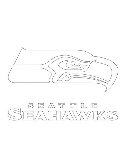 Seahawks Coloring Page seahawks printable logo search stencils