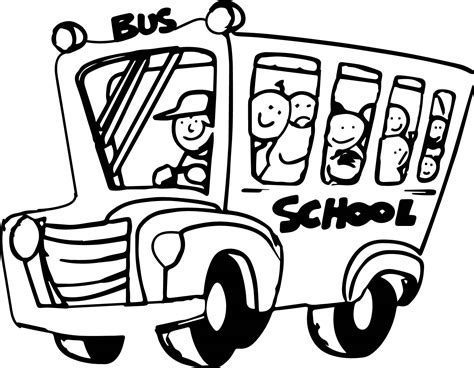 bus coloring pages preschool funny bus kids cartoon wall preschool coloring page