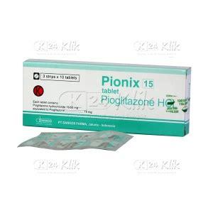 Pionix 30 Mg 30 Tablet Jual Beli Pionix 15mg Tab K24klik