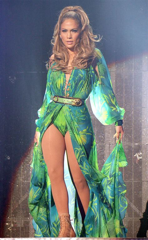 Style J Los Dress by Wearing Green Versace Dress For Bronx