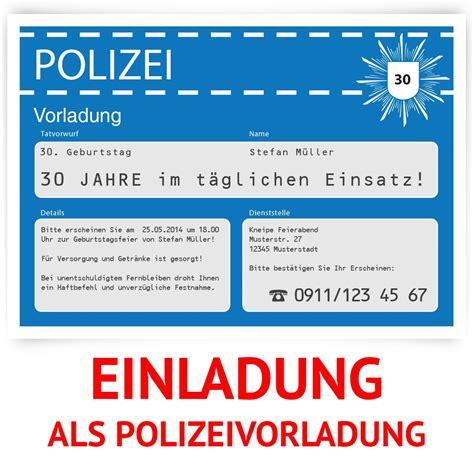 einladungskarten blau einladungskarten als polizeivorladung in blau bestellen