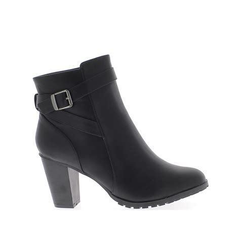 big 5 boots ankle boots big size black to 9 5 cm leather