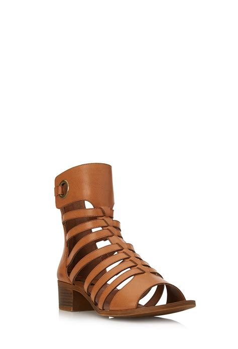 forever 21 sandals forever 21 boho strappy sandals in brown lyst