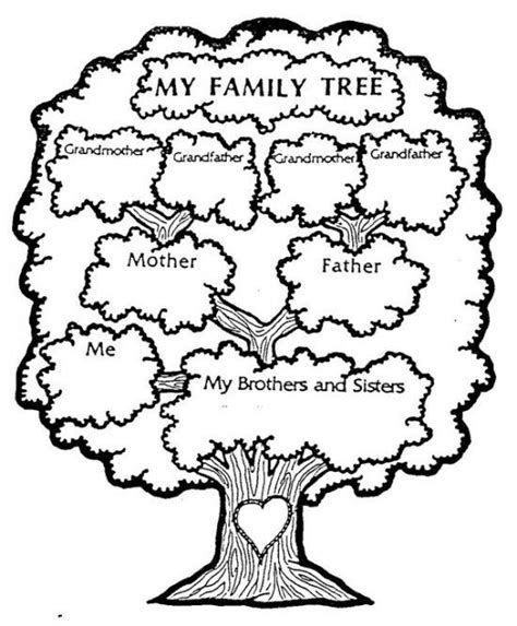 free printable family tree with siblings free pictures of family tree coloring pages colouring