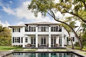 Plantation Style Home by Neoclassical Plantation Style Miami Home With Pool