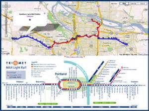 map portland trimet max light rail on maps