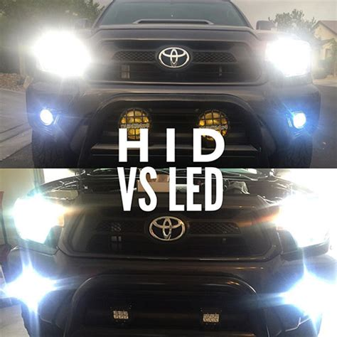 hid lights vs led lights upgrading headlights to hid or led car systems