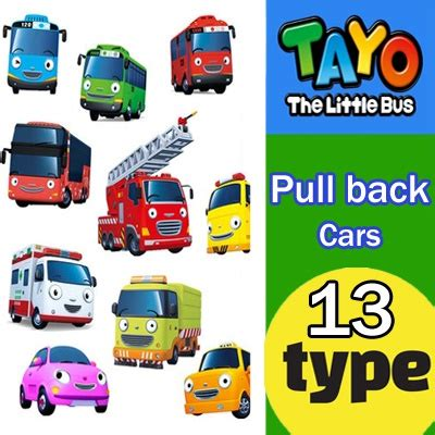 Tayo Mainan Anak Tayo 1 Set Pull Back qoo10 the tayo korean character pull back car diecast vehicle toys