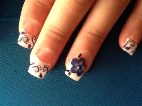 imagenes de uñas de acrilico azul marino obras de arte en tus manos dise 241 o azul marino