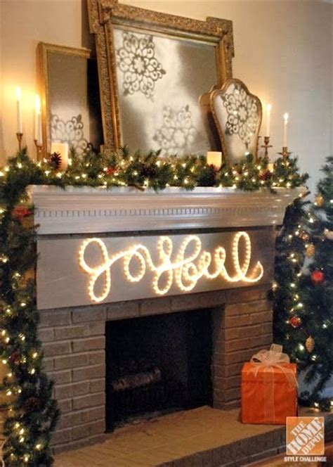 Lighted Fireplace Logs by 50 Diy Indoor Christmas Decorating Ideas Pink Lover