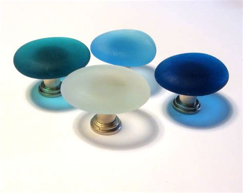 Teal Cabinet Knobs by Teal Glass Cabinet Knob Drawer Pull Beachyrustica