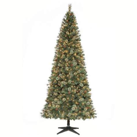 martha stewart living slim christmas tree martha stewart living 9 ft pine set artificial tree with pinecones
