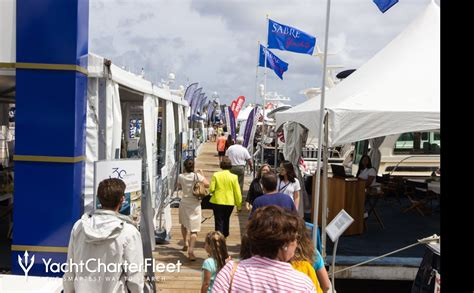 palm beach boat show attendance day 1 at the palm beach boat show 2017 yacht charter fleet