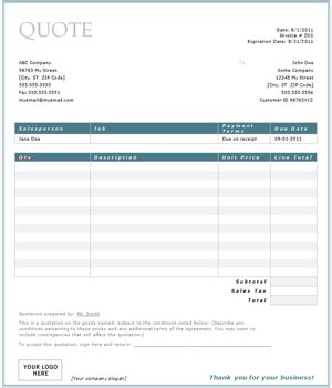 construction quotation templates 13 free word pdf format