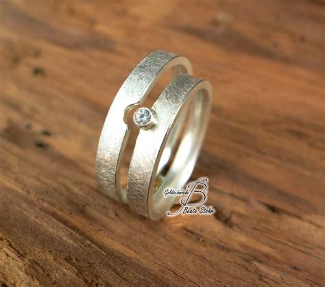 Trauringe Diamant trauringe mit diamant silber traumschmuckwerkstatt shop