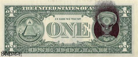 Home Artwork Decor dollar bill alien drawing by ismael cavazos