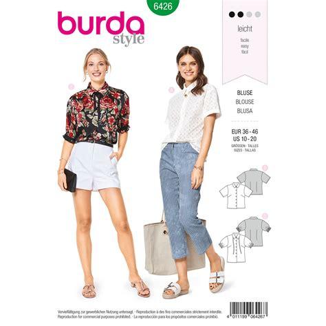 pattern review weekend 2018 burda burda style pattern b6426 misses fancy summer blouses