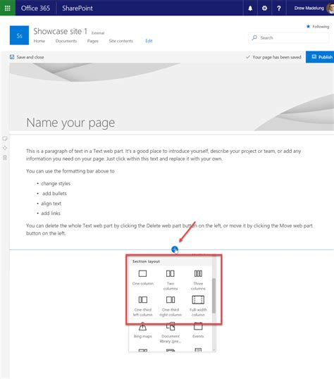 change zone layout sharepoint first look at communication sites in sharepoint online