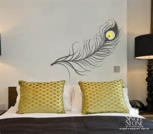 Peacock Feather Wall Sticker Peacock Feather Wall Decal Vinyl Art Stickers