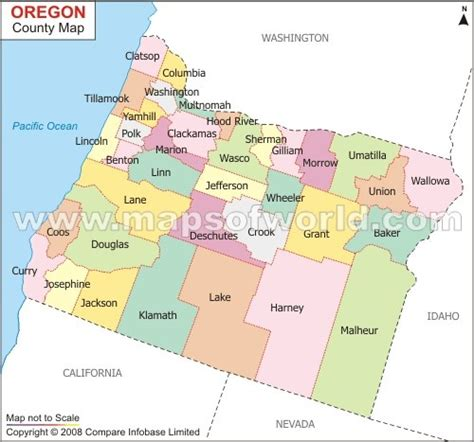 map of oregon by county county map of oregon oregon
