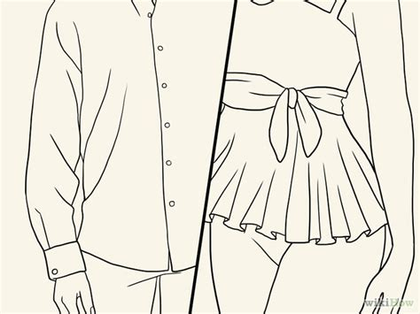 cara menggambar pola desain baju