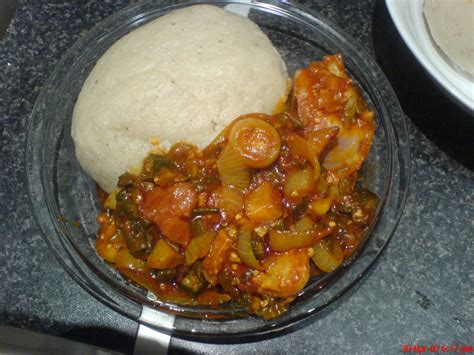 bank u banku with chopped okro stew spicyfafa