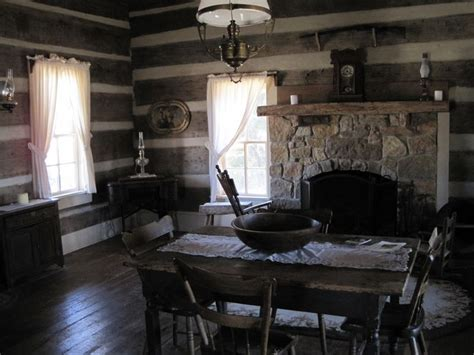 log cabin interior description green frog