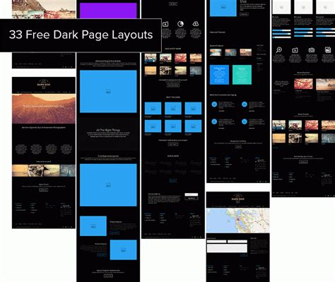 33 Free Dark Page Layouts For Divi Divi Layout Templates