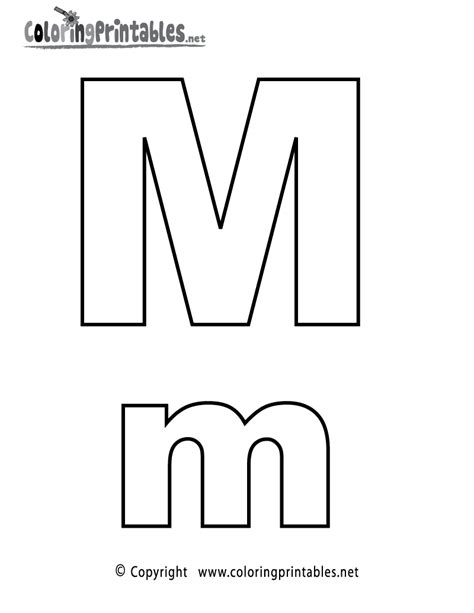 Alphabet M Coloring Pages by Alphabet Letter M Coloring Page A Free Coloring
