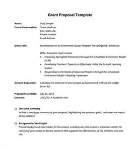 grant template sle grant 8 documents in pdf word