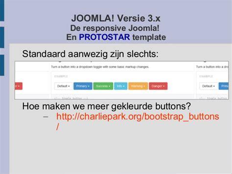 template joomla maken presentatie joomla3 responsive protostar template